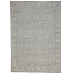 Transitional Rug with Modernized Moroccan Ogee Flavor
