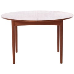 Danish Modern Dining Table with Self-Storing Leaves