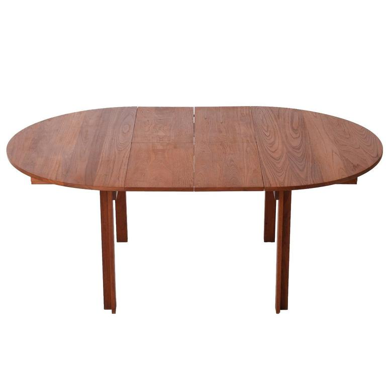 Danish Modern Round Solid Teak Dining Table with Two  : 150701dtc119orgl from www.1stdibs.com size 768 x 768 jpeg 21kB