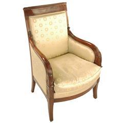Bergere Chair, Armchair, France, circa 1800, Mahogany