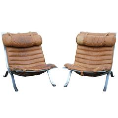 Mid-Century Ari Easy Chair Pair by Arne Norell