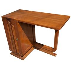 Deco Period Teak Desk from Ship's Stateroom