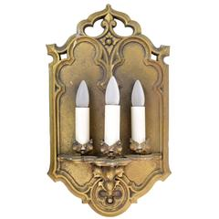 Gothic Three Candle Sconce