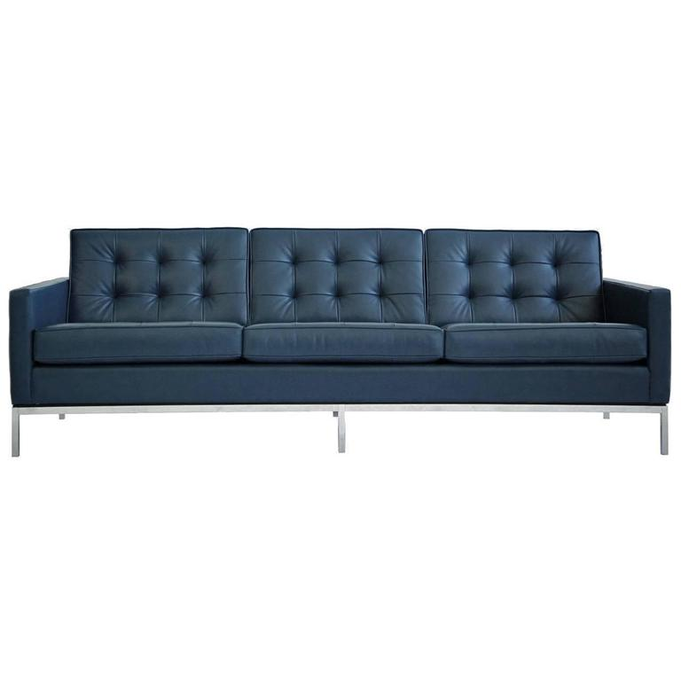 Florence Knoll Leather Sofa For Sale At 1stdibs