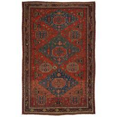 Antique Caucasian Konaghend Soumak Rug