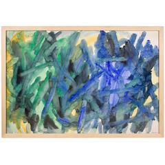 Large Jacob Semiatin Abstract Painting, circa 1950, USA