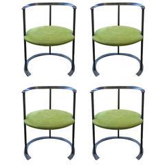 "Four ""Catalina"" Chair by Luigi Caccia Dominioni, Italy Designed 1950, Azucena"
