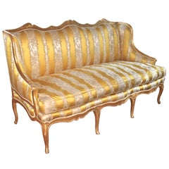 Louis XV Giltwood French Canape a Oreilles