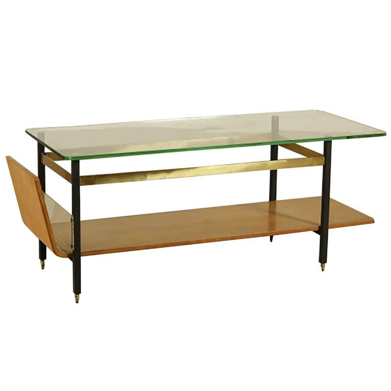 Italian Modern And Stylish Coffee Table By Vito Latis Studio Milano 1950s For Sale At 1stdibs