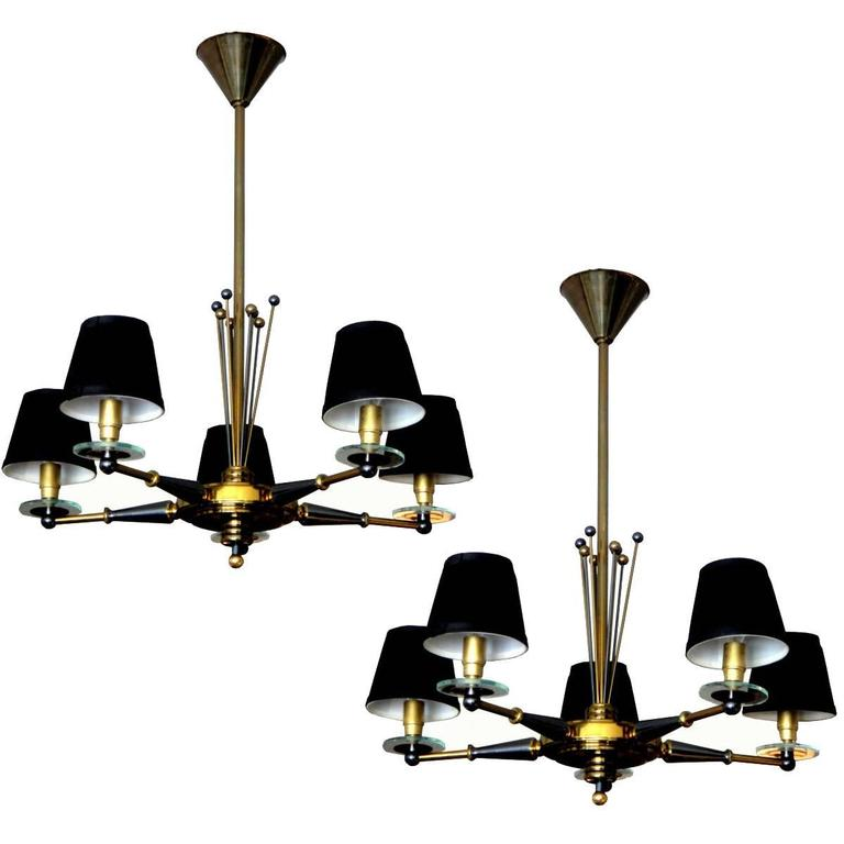 Pair of Maison Jansen Chandeliers For Sale