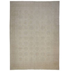New Contemporary Transitional Khotan Oversized Rug with Colonial Revival Style