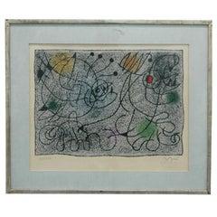 Signed Joan Miro (1893-1983) Abstract Print