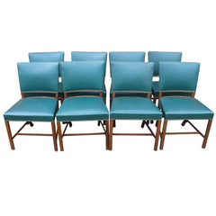 Set of Eight Chairs by Fritz Hansen in Polished Wood from the 1930s
