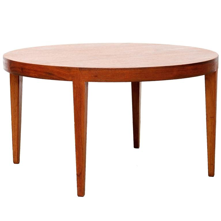 Mid Century Modern Small Round Coffee Table At 1stdibs: Rare Danish Mid-Century Modern Round Coffee Table By
