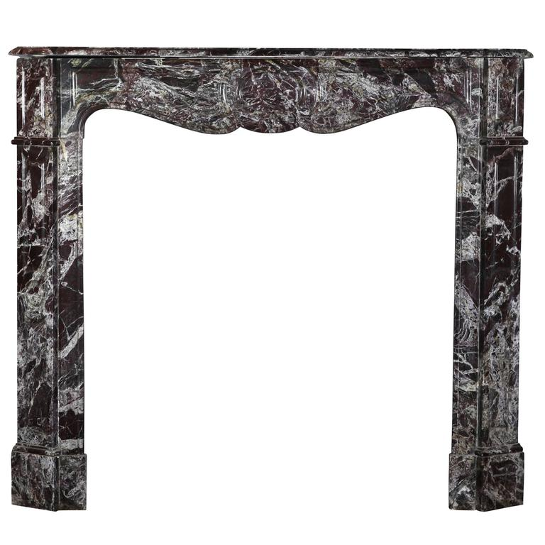 19th Century Antique Marble Fireplace Mantle