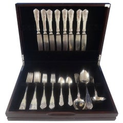 Hardanger by TH. Olsens Sterling Silver Flatware Set Service Dinner 41 Pieces