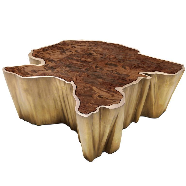 Brabbu Walnut And Brass Organic Modern Coffee Table, Fifty Shades Of Grey  Movie 1