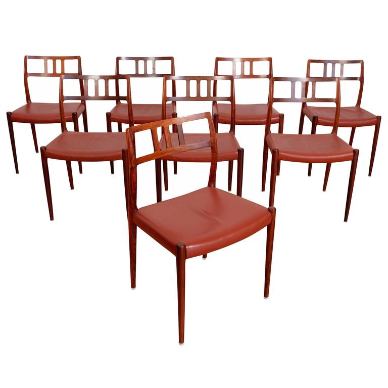 Dinning Chairs Model 79 by Niels Otto Møller