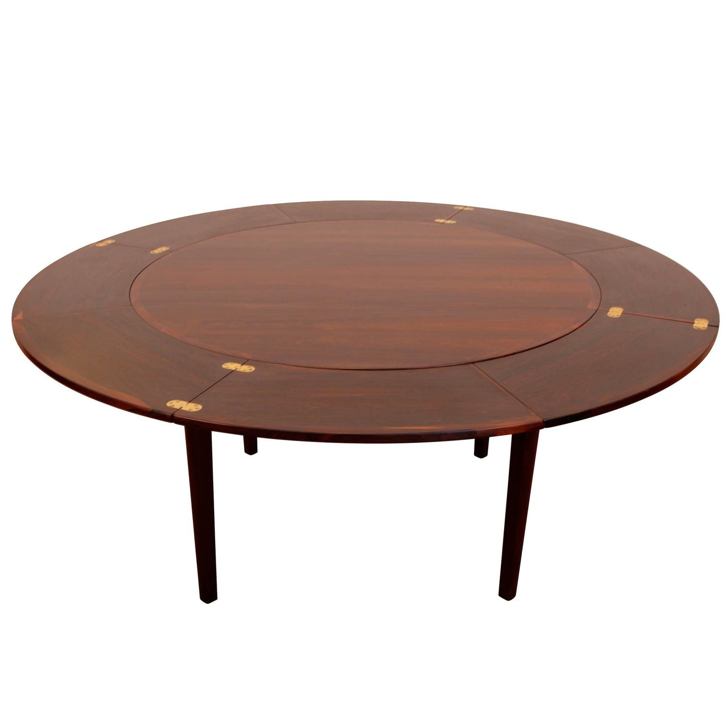 Dyrlund Dinning Table with Pull Out Leaves For Sale at 1stdibs