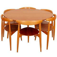 "Hans J. Wegner ""The Heart Set"", ""Hjertesættet"" Dinning Room Set"