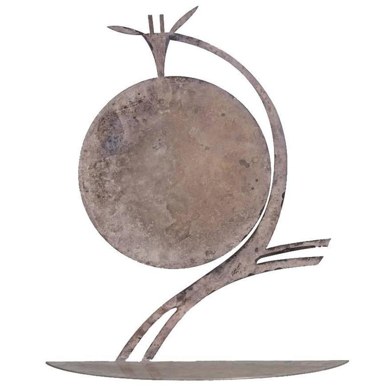Silvered Metal Karl Hagenauer Giraffe Table Sculpture, 1930s