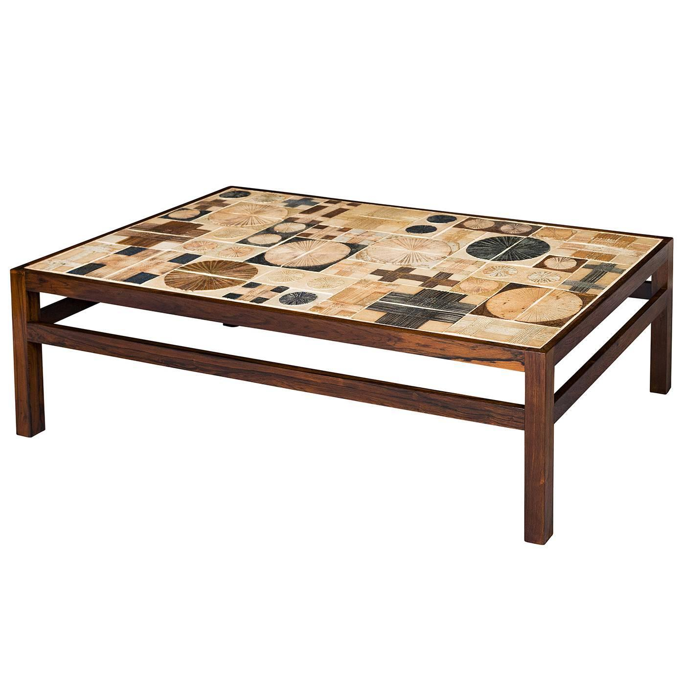 Tue poulsen tile coffee table for sale at 1stdibs for Tile coffee table