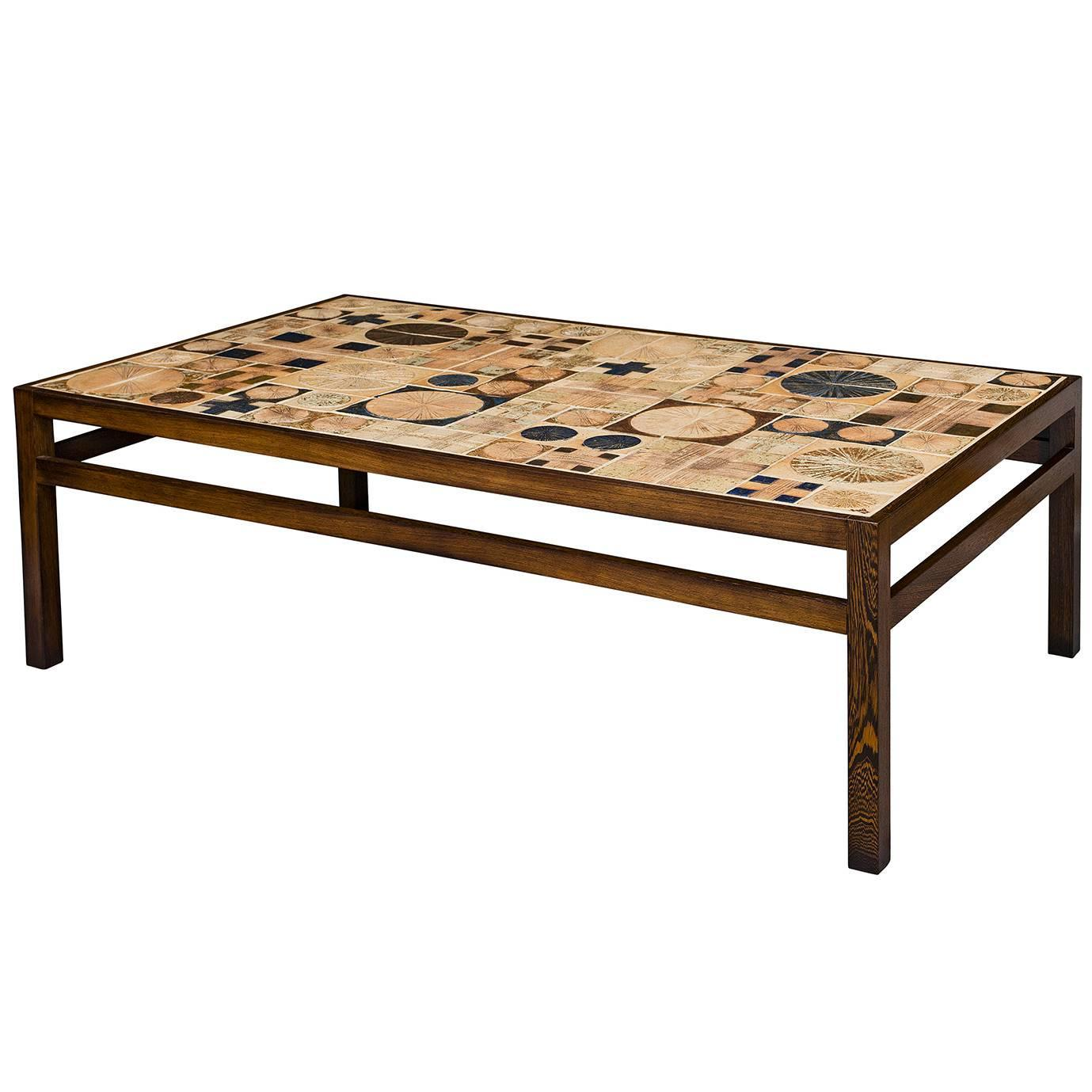 tue poulsen tile coffee table for sale at 1stdibs