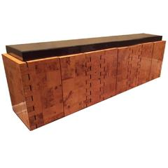 Paul Evans City Scape Burl Wood Credenza