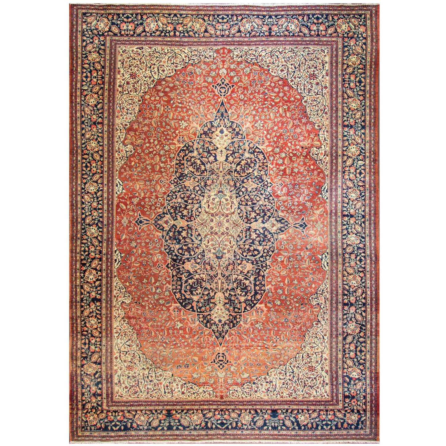 Amazing Sarouk Feraghan Carpet For Sale At 1stdibs