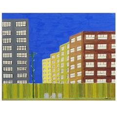 Robret Boyle Outsider/Folk Art Urban Landscape