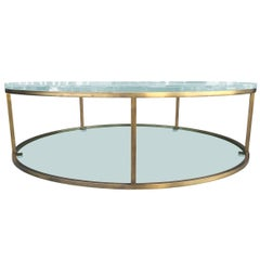 "Lucite and Solid Brass ""Aro One"" Low Table by Amparo Calderón Tápia"