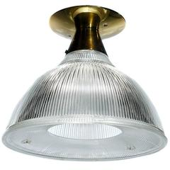 Collection of Large Holophane Flush Mount Skirted Domes