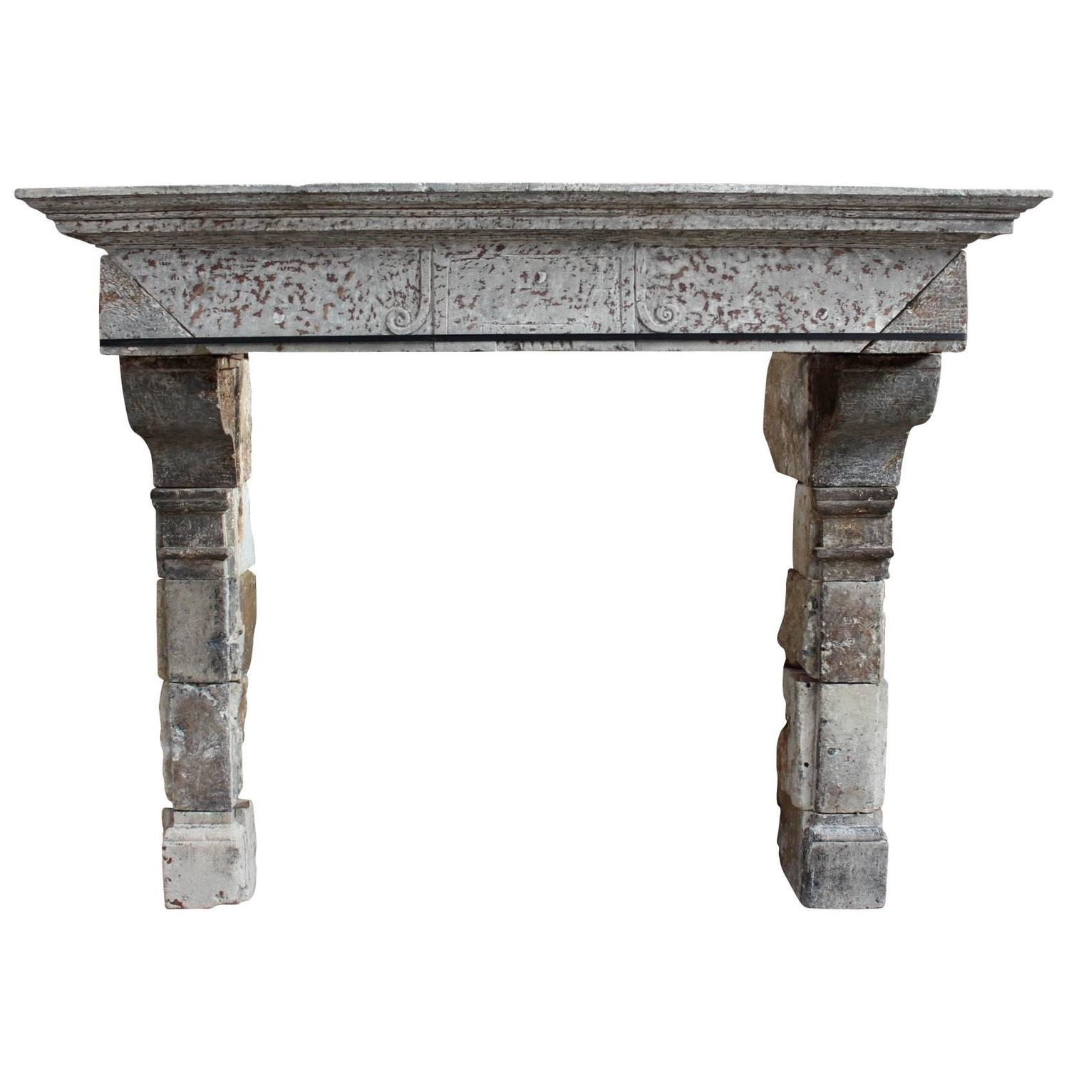 17th Century Limestone Antique Fireplace Mantel For Sale At 1stdibs