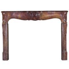 18th Century Regency Transition Louis XV Period Antique Fireplace Mantel