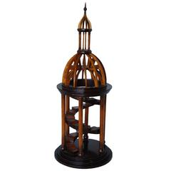 Carved Wood Bell Tower Model