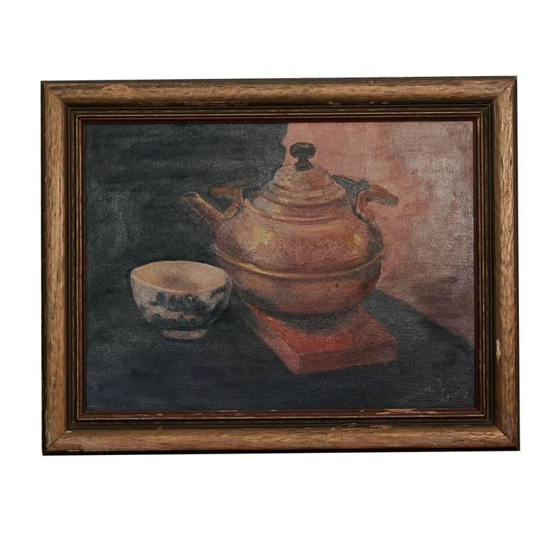"""""""4:00 Tea"""" Painting by Magdalene D. Lewis, African-American Artist"""