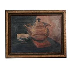 """4:00 Tea"" Painting by Magdalene D. Lewis, African-American Artist"