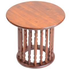 Solid Walnut Modern End Table in the Style of Arthur Umanoff