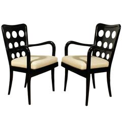 Pair of Bridge Chairs Attributed to Carlo di Carli