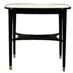 1900s Tea Table by Jacob and Josef Kohn, stained beech, aluminium - Austria