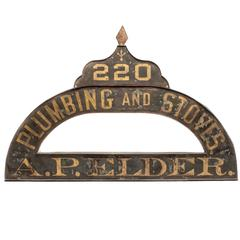 Beautiful 19th Century Industrial Trade Sign