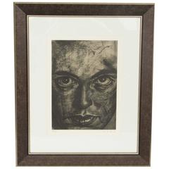 Etching by Cuban Artist Jose Manuel Fors