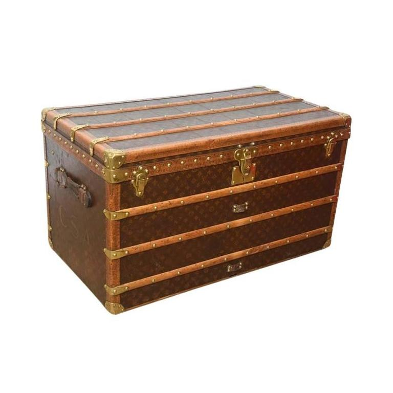 Early 20th Century Louis Vuitton Steamer Trunk 1