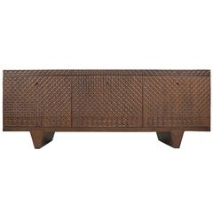 Zellij Black Walnut 3D Textured Sideboard