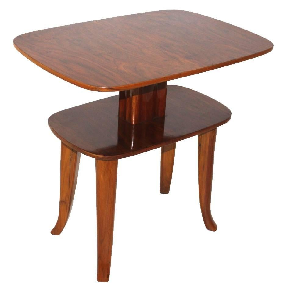 Art Deco Vintage Walnut Side Table Coffee Table Style Josef Frank c 1925 Austria