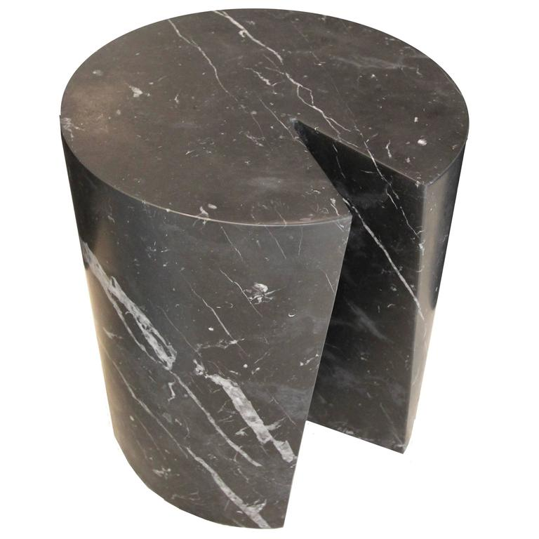 Accent Table, Black Marble Bûche by Michel Amar Limited Edition 50 For Sale