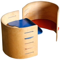 Two Child's Chairs by Kristian Vedel for Torben Orskov