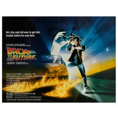 """Back To The Future,"" Original British Movie Poster"
