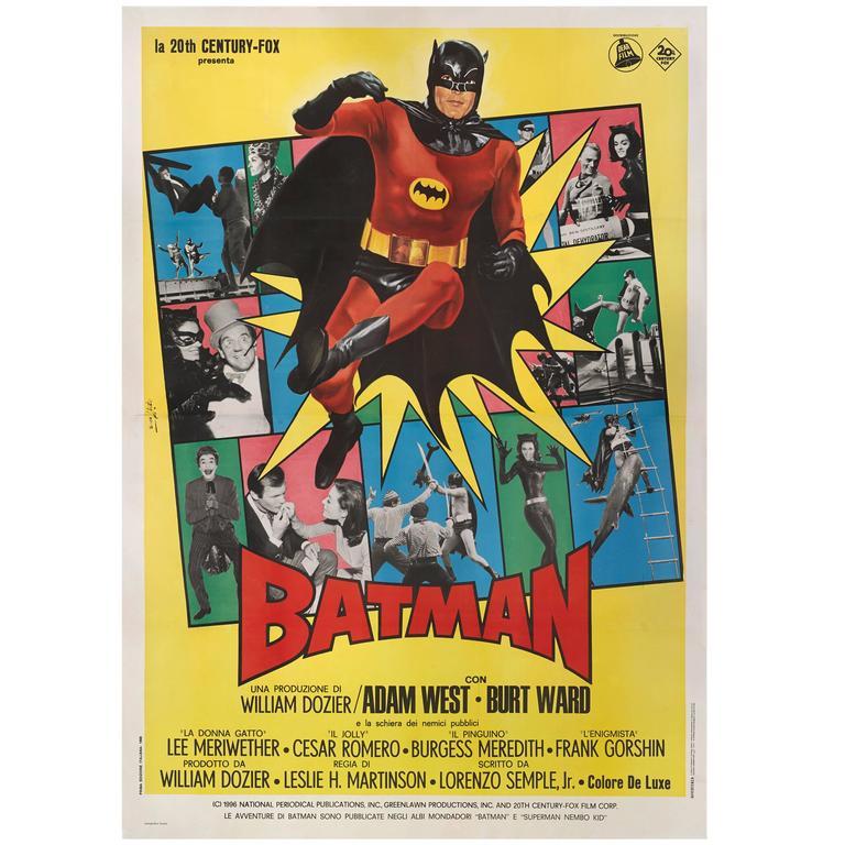batman original italian movie poster for sale at 1stdibs. Black Bedroom Furniture Sets. Home Design Ideas
