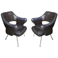 Rare Pair of Armchairs, Design Gastone Rinaldi Mod. P 16, 1950